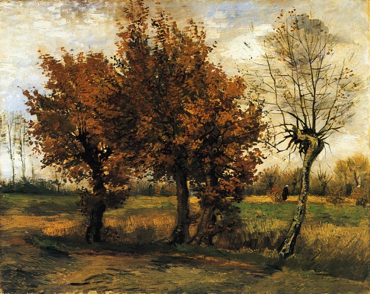Четыре дерева, осень :: Ван Гог - Van Gogh (Ван Гог) фото