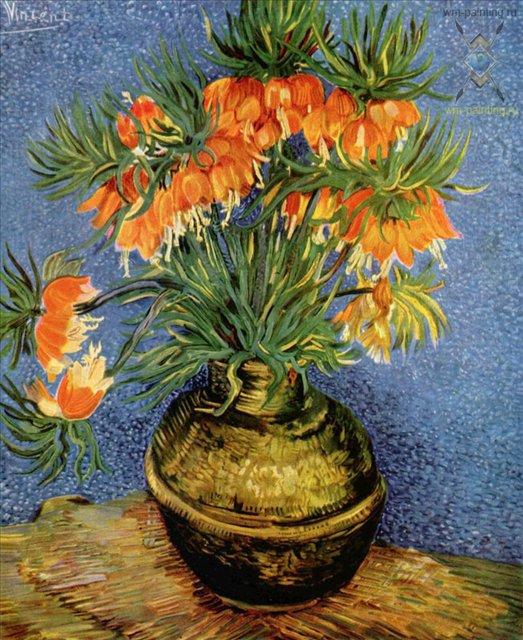 Натюрморт с императорскими коронами в бронзовой вазе :: Ван Гог - Van Gogh (Ван Гог) фото