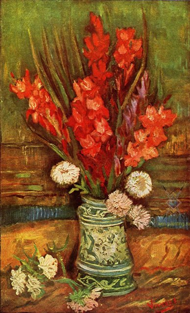 Натюрморт с красными гладиолусами :: Ван Гог - Van Gogh (Ван Гог) фото
