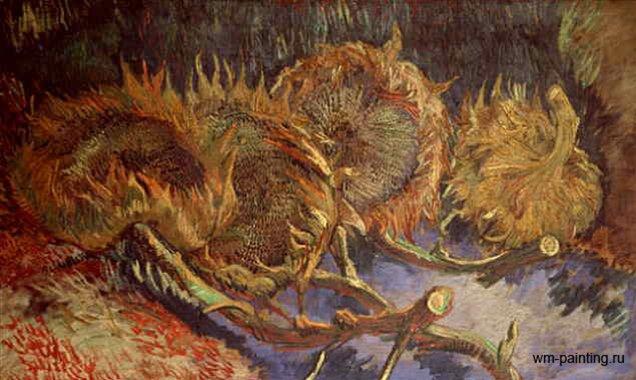 Натюрморт с четырьмя  срезаными подсолнухами :: Ван Гог - Van Gogh (Ван Гог) фото
