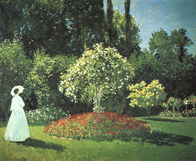 Жанна-Маргарита ( Мария ) Лекадр в саду :: Клод Моне  (Франция ) - Claude Monet фото