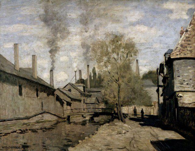 пейзаж < Речка Робек в Руан > ::  Клод Моне ( Франция ) - Моне Клод (Claude Monet) фото