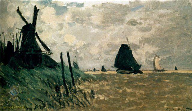 Мельница возле Заандам ( Голландия ) :: Клод Моне - Claude Monet фото
