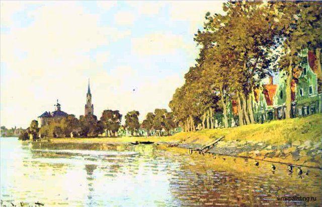 пейзаж Заандам ( Голландия ) :: Клод Моне - Claude Monet фото