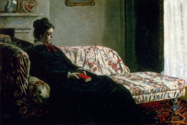 Раздумья ( мадам Моне на софе ) :: Клод Моне - Claude Monet фото