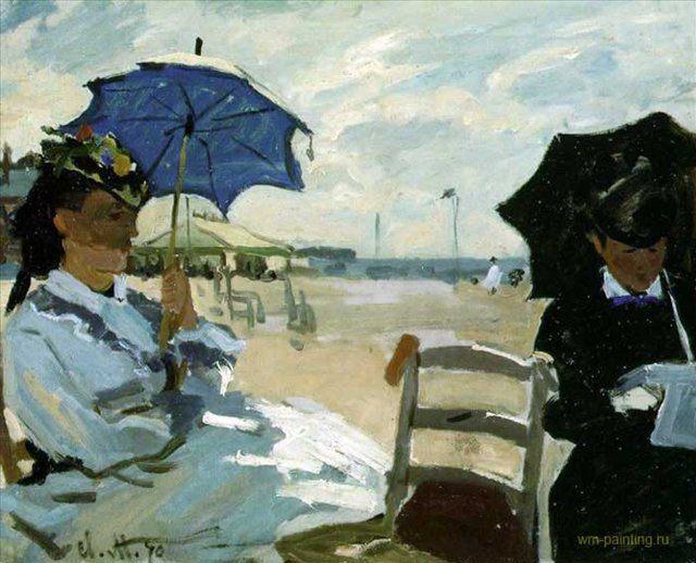 пейзаж Пляж в Трувиле :: Клода Моне  ( Франция ) - Моне Клод (Claude Monet) фото