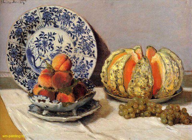 Натюрморт с дыней :: Клод Моне ( Франция ) - Моне Клод (Claude Monet) фото