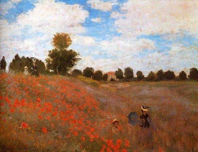 Поле с маками возле Аржантей :: Клод Моне ( Франция ) - Claude Monet фото