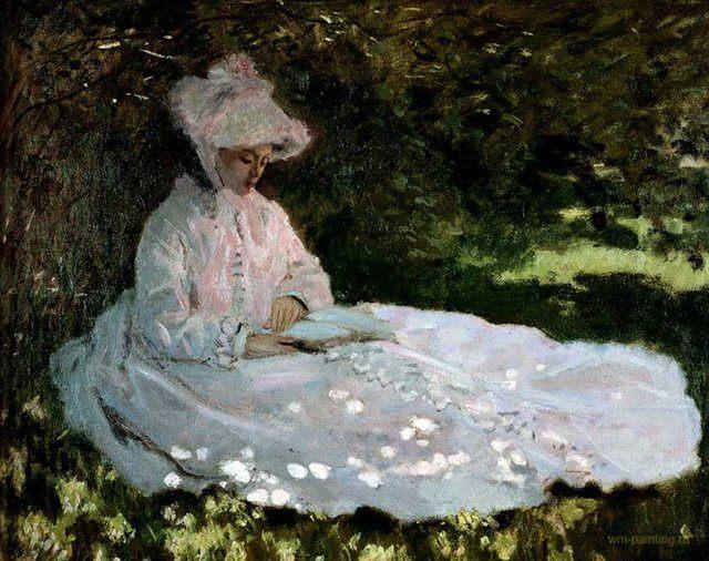 картина Чтица :: Клод Моне ( Франция ) - Claude Monet фото