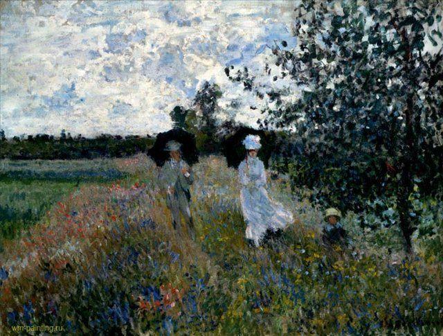 Прогулка под Аржантей :: Клод Моне  ( Франция ) - Claude Monet фото
