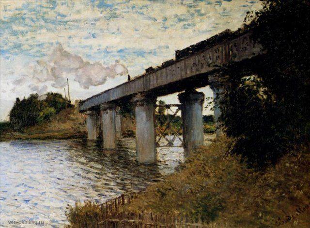 Железнодорожный мост в Аржантей :: Клод Моне ( Франция ) - Claude Monet фото