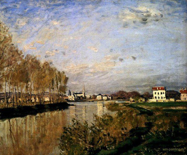 Сена возле Аржантей :: Клод Моне ( Франция ) - Моне Клод (Claude Monet) фото