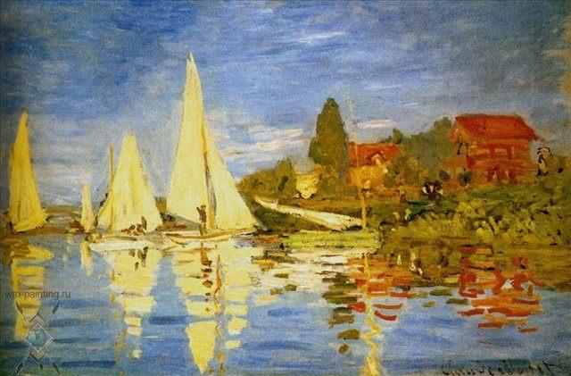 Регата в Аржатей  :: Клод Моне ( Франция ) - Моне Клод (Claude Monet) фото