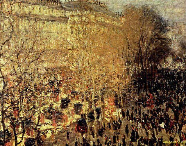 картина Бульвар Капуцинок в Париже :: Клод Моне ( Франция ) - Моне Клод (Claude Monet) фото
