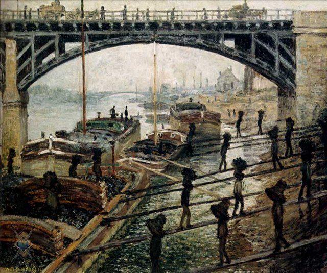 Разгрузка угля :: Клод Моне ( Франция ) - Claude Monet фото