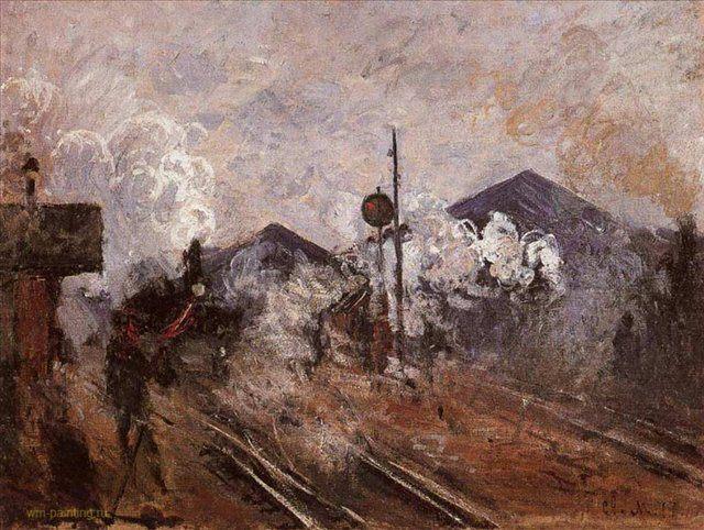 Пути, выходящие с вокзала Сен-Лазар :: Клод Моне - Claude Monet фото