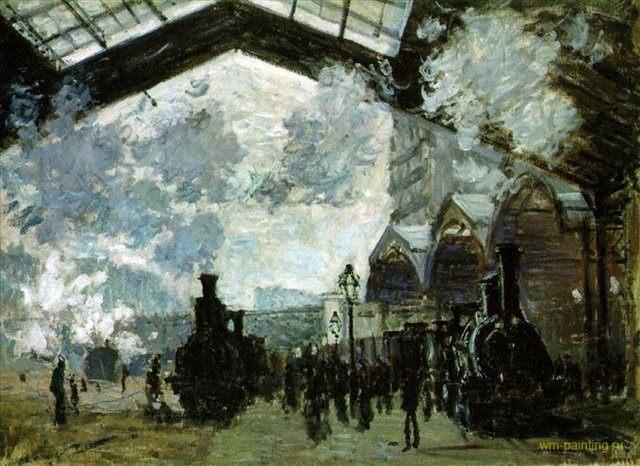 Вокзал Сен-Лазар ::  Клод Моне - Моне Клод (Claude Monet) фото