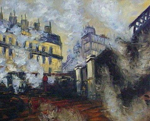 Мост вокзала Сент Лазар :: Клод Моне - Моне Клод (Claude Monet) фото