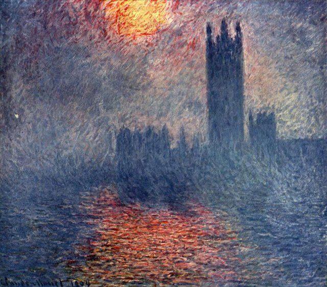 картина Здание парламента в Лондоне :: Клод Моне - Моне Клод (Claude Monet) фото