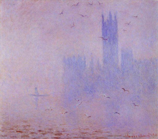 картина Парламент, сиреневый туман :: Клод Моне - Моне Клод (Claude Monet) фото