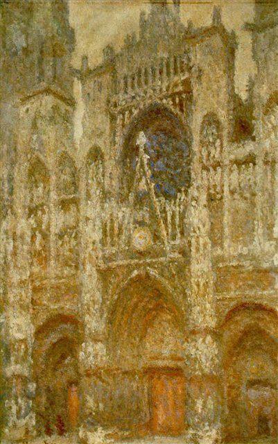 Руанский собор, портал и башня Сен-Ромен: пасмурная погода ::  Клод Моне - Claude Monet фото