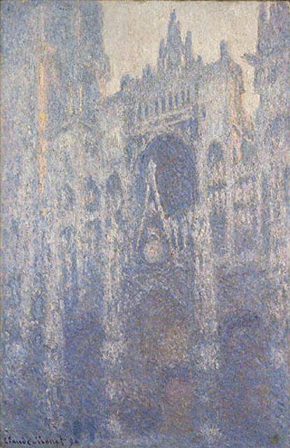 Руанский собор, портал и башня Сен-Ромен: эффект утра :: Клод Моне  ( Франция ) - Claude Monet фото
