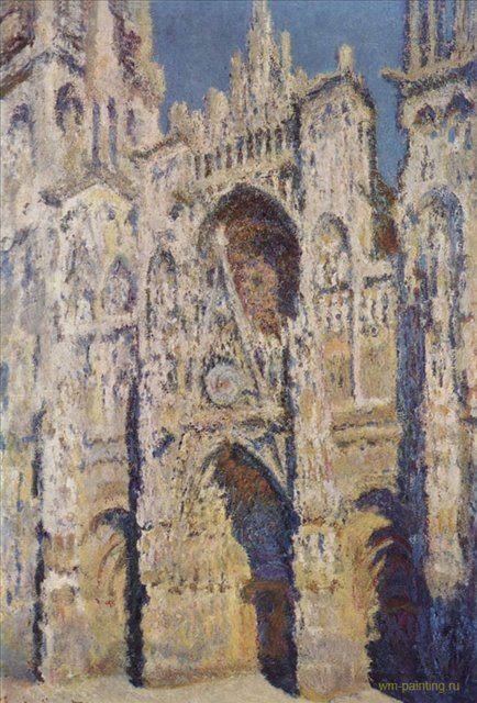 Руанский собор (гармония в голубых и золотых тонах) :: Клод Моне - Claude Monet фото