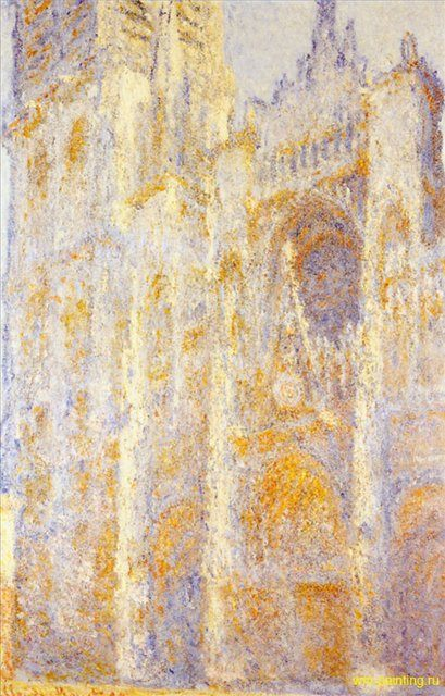 Руанский собор, портал и башня Сен-Ромен, полдень :: Клод Моне - Claude Monet фото