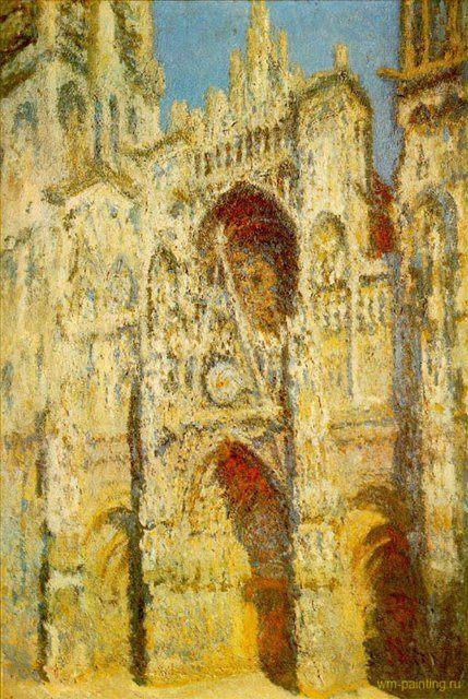 Руанский собор, портал и башня Сен-Ромен, полдень :: Клод Моне ( Франция ) - Моне Клод (Claude Monet) фото