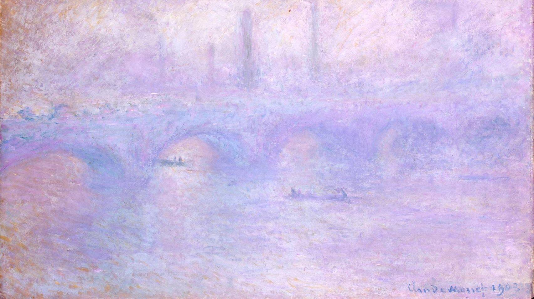 картина Мост Ватерлоо. Эффект тумана :: Клод Моне ( Франция ) - Моне Клод (Claude Monet) фото