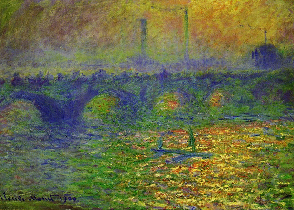 Мост Ватерлоо ( зелёное свечение ) :: Клод Моне - Моне Клод (Claude Monet) фото