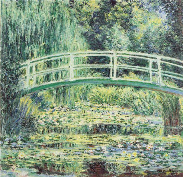 пейзаж Водные лилии, мостик :: Клод Моне - Claude Monet фото