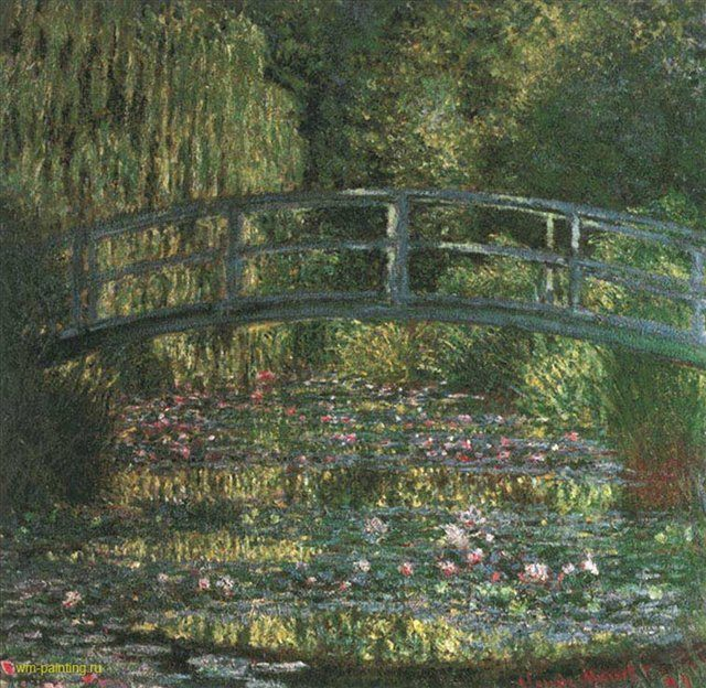 Водные лилии. Гармония в зеленом :: Клод Моне ( Франция ) - Моне Клод (Claude Monet) фото
