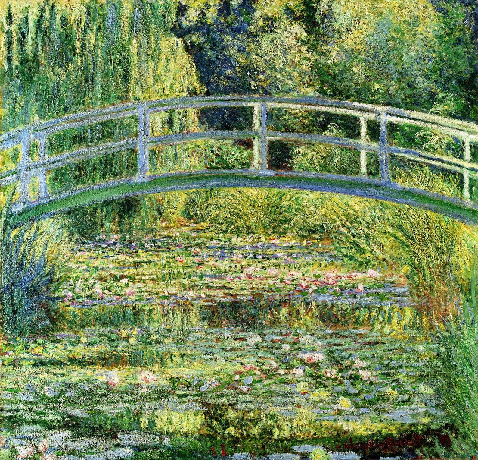 Пруд с водными лилиями :: Клод Моне, картина, пейзаж, описание - Claude Monet фото