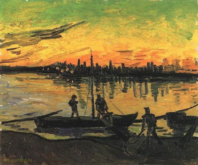 Баржи 2 :: Винсент Виллем Ван Гог, описание картины  - Van Gogh фото