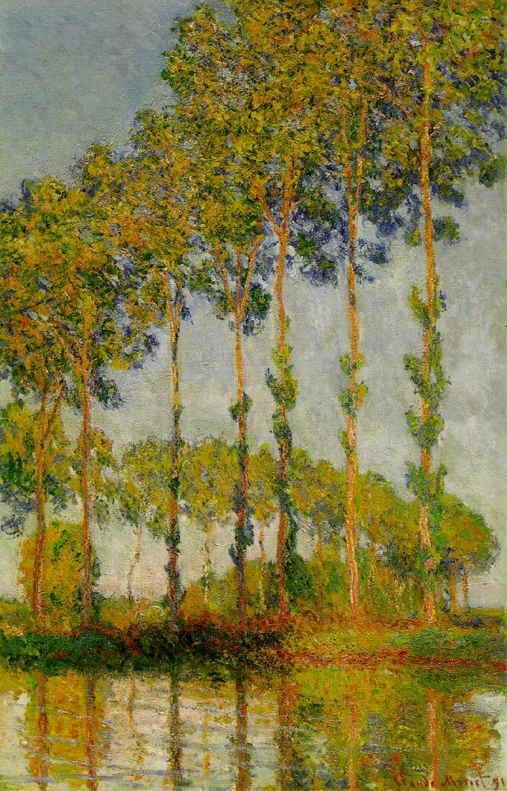 Тополя на реке Эпта, Осень :: - Моне Клод (Claude Monet) фото
