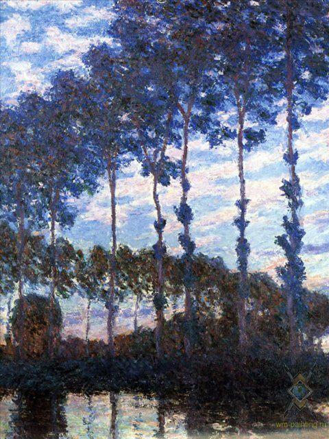 Тополя на реке :: Клод Моне, описание картины - Claude Monet фото