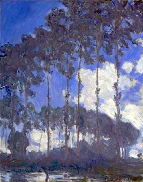 Тополя на берегу :: Клод Моне ( Claude  Monet ) - Claude Monet фото