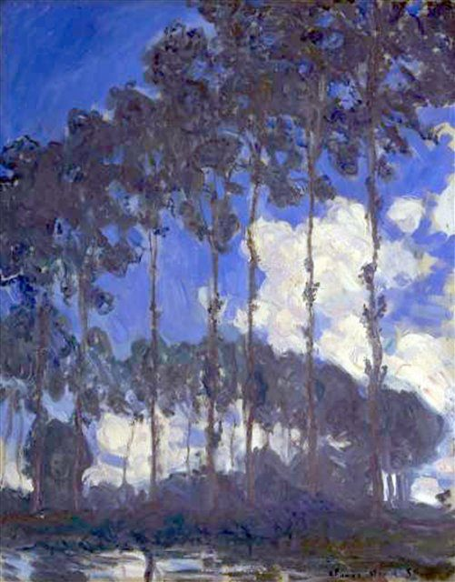 Тополя на берегу :: Клод Моне ( Claude  Monet ) - Моне Клод (Claude Monet) фото