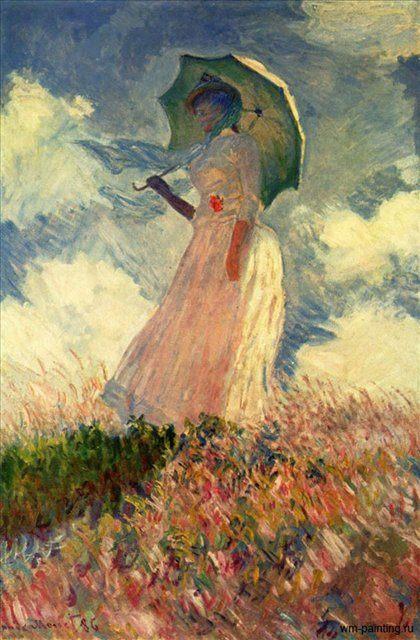 Женщина с зонтиком. Этюд :: Клод Моне ( Франция ) - Claude Monet фото