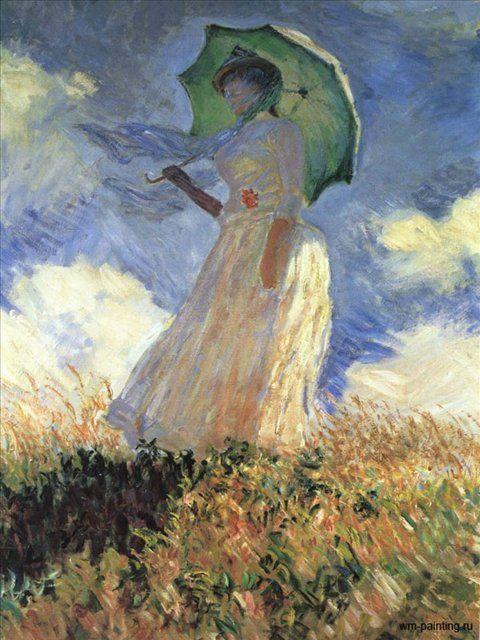 Женщина с зонтиком. ( Этюд с поворотом на лево ) :: Клод Моне - Claude Monet фото