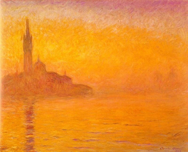 картина Сумерки. Венеция :: Клод Моне, описание картины - Claude Monet фото