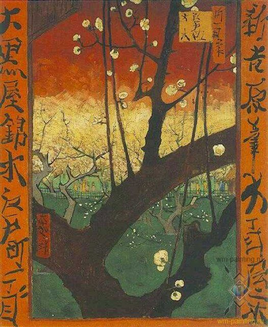цветущая слива ( подражание Хирошиге ) :: - Van Gogh фото