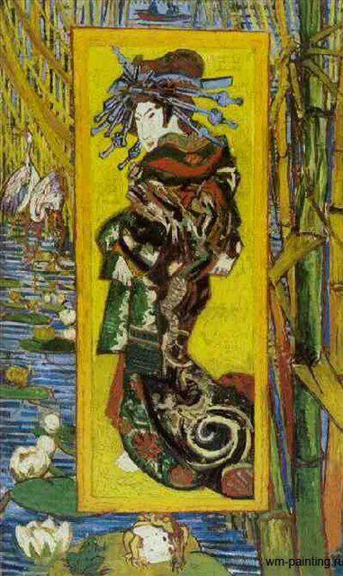 Куртизанка ( подражание Кесай Ейсен ) :: Ван Гог - Van Gogh фото