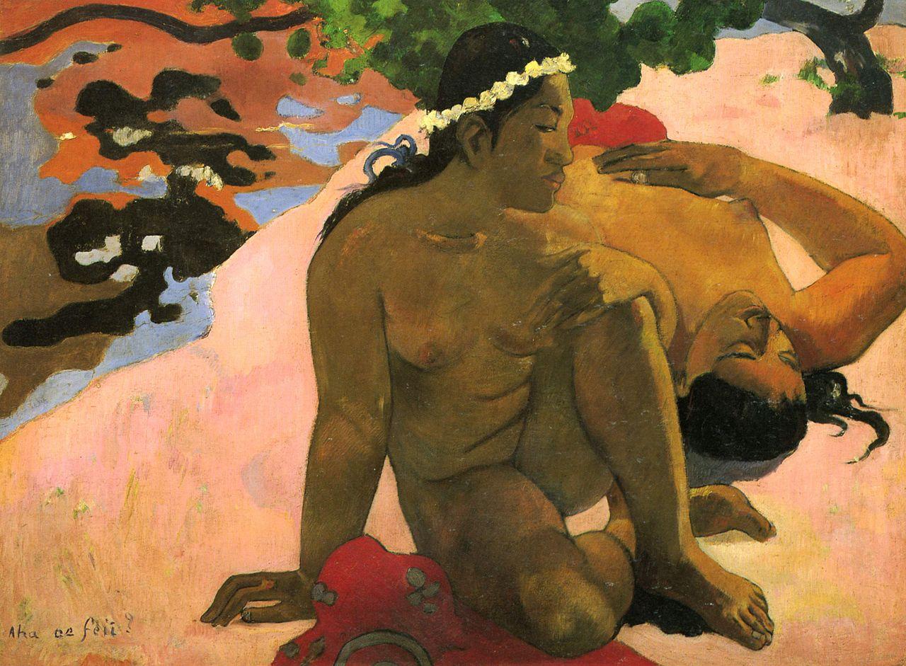 картина А ты ревнуешь? - Paul Gauguin фото