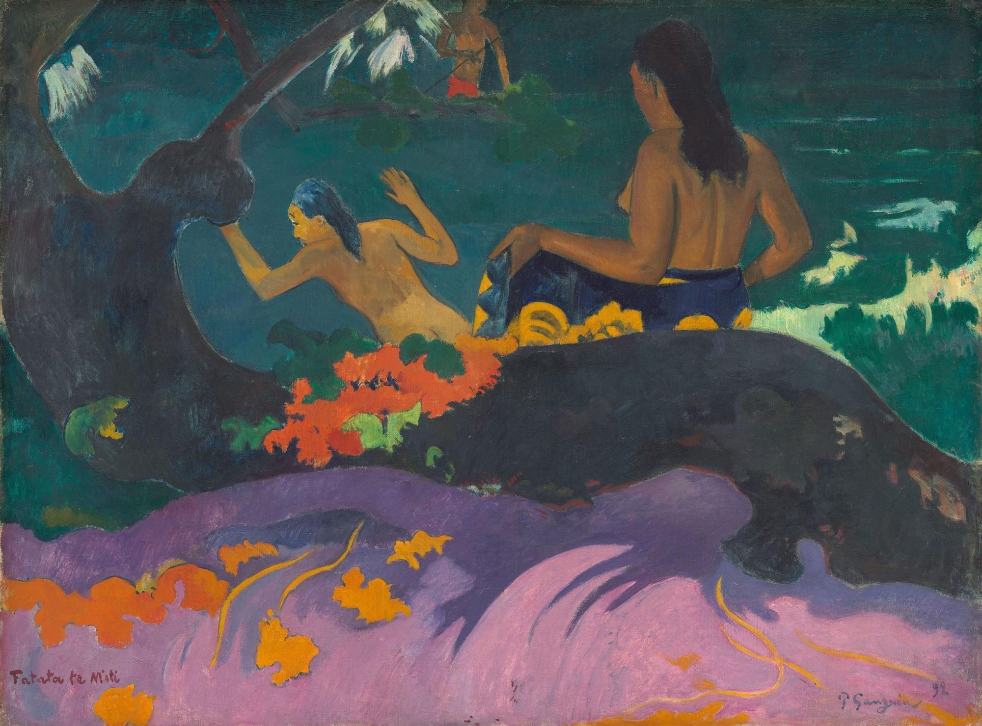 картина Возле моря (Fatata te miti) - Гоген Поль ( Paul Gauguin ) фото