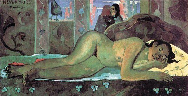 Никогда больше :: Поль Гоген, картина ню, эротика в живописи - Paul Gauguin фото
