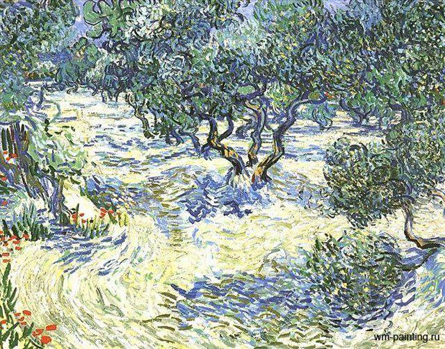 пейзаж Оливковая Роща  :: Винсент Виллем Ван Гог - Van Gogh (Ван Гог) фото