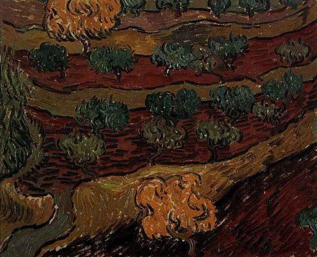 Оливковые дереья на склоне холма :: Ван Гог - Van Gogh (Ван Гог) фото
