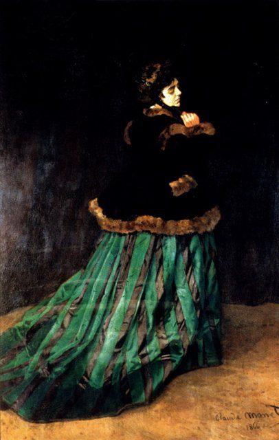 картина Женщина в зелёном платье :: Клод Моне - Моне Клод (Claude Monet) фото